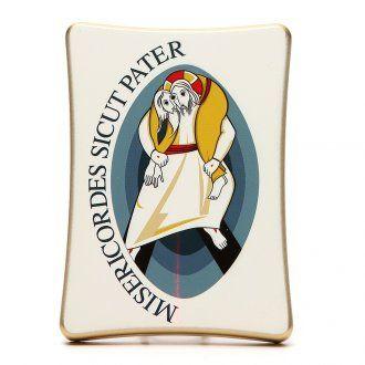 Imagen Logo Jubileo de la Misericordia sobre madera, 12x17 cm | venta online en HOLYART