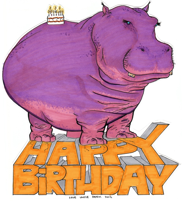 anniversaire hippopotamus
