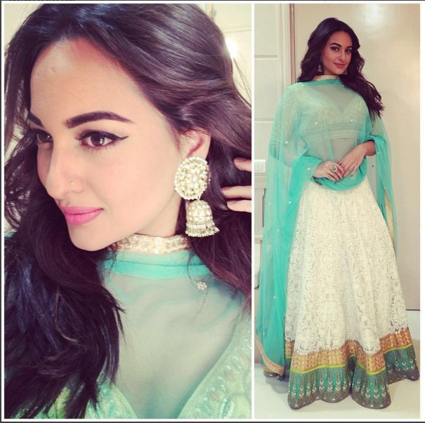 Yay Or Nay: Sonakshi Sinha in Anita Dongre | PINKVILLA