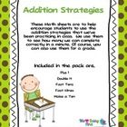 This pack will help encourage your students to use the addition strategies that you've been practicing in class.  Mine love to see how many they ca...