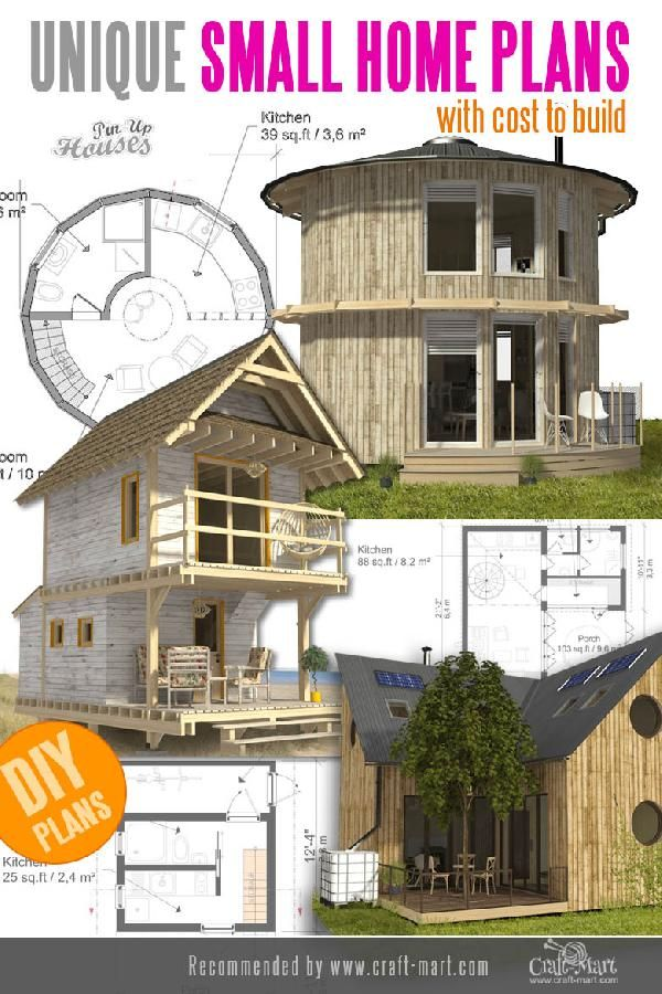 Small House Plans Tiny Homes Cabins
