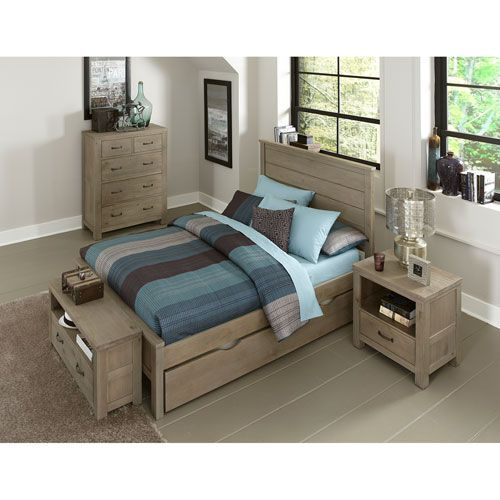 Highlands Driftwood Alex Full Bed With Trundle Ne Kids Full Kids Furniture Childrens