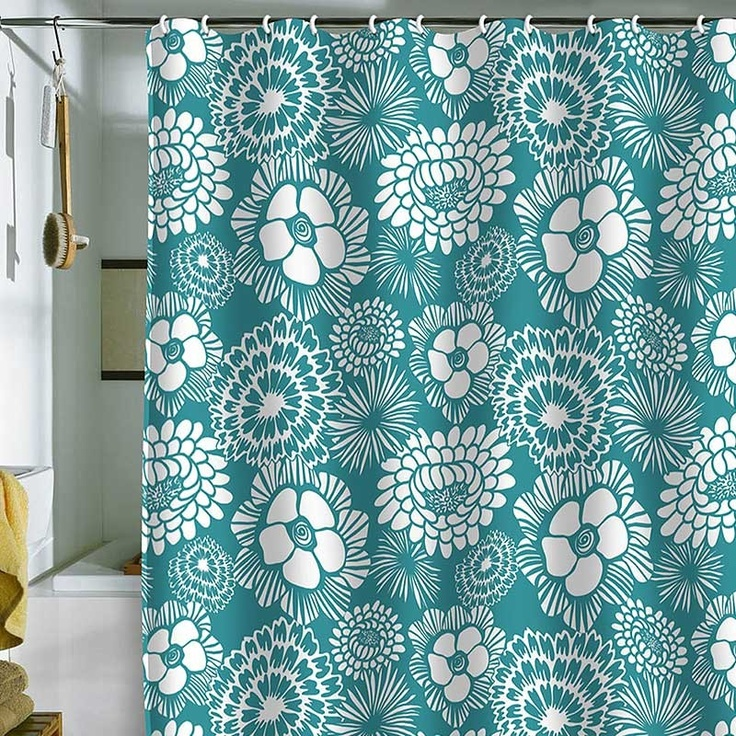 Teal Shower Curtain - Yes, Please!