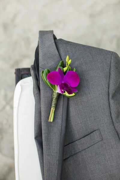 Pop of color on your grey suit is always a great look.   #RadiantOrchid #WeddingInspiration #WeddingReception  Photos on WeddingWire  FOLLOW US: https://www.facebook.com/thelincolncenter http://www.pinterest.com/lincolncenter/