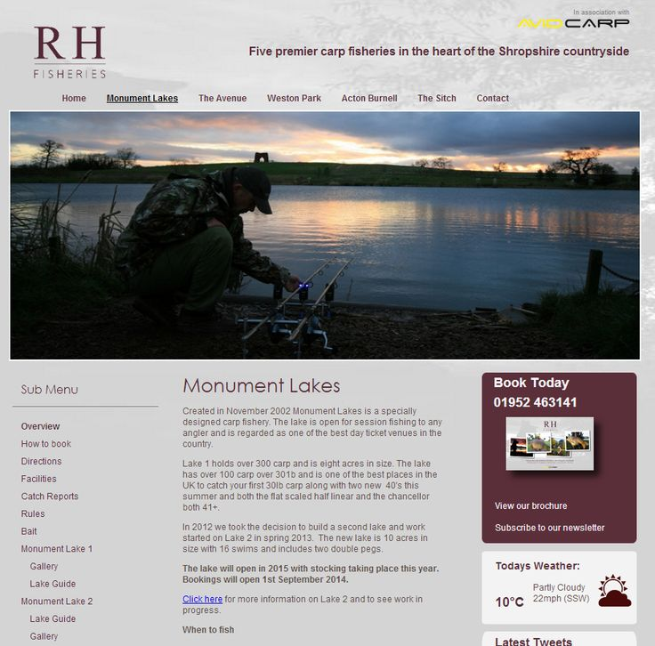 Monument Lakes - RH Fisheries - Created in November 2002 Monument Lakes is a specially designed carp fishery. The lake is open for session fishing to any angler and is regarded as on... Check more at http://carpfishinglakes.com/item/monument-lakes-rh-fisheries/