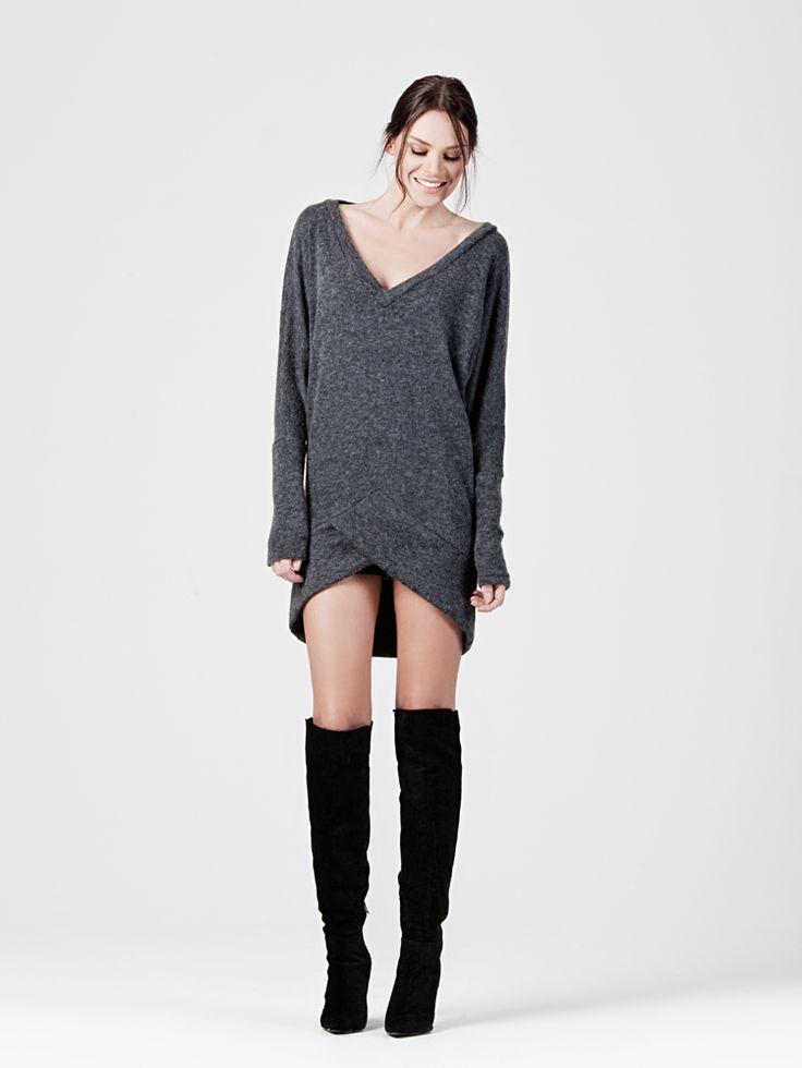 WOOL LOOK LONG TOP http://www.beyoubyyvonne.com/en/shop/dresses/wool-look-long-top.html