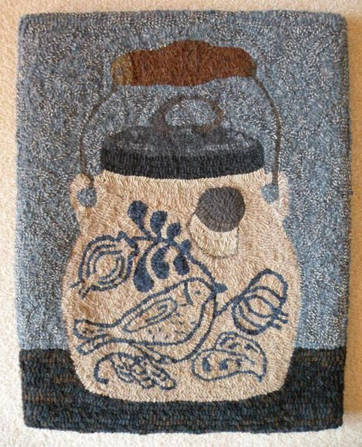 Rug Hooking Designs on Linen