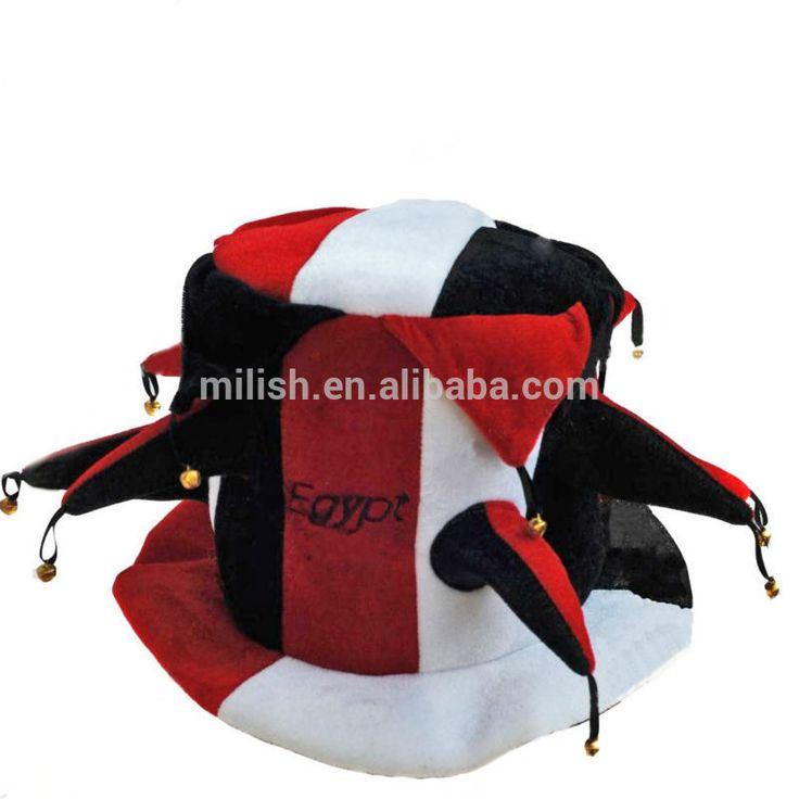 Divertida fiesta de carnaval locos de payaso egipcio de fútbol los aficionados jester sombreros mh-1903-imagen-Piezas Sombreros-Identificación del producto:1888306360-spanish.alibaba.com