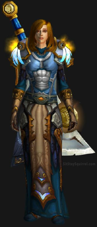 Retribution Ashbringer WoW Legion Transmog: Yellow Default Skin