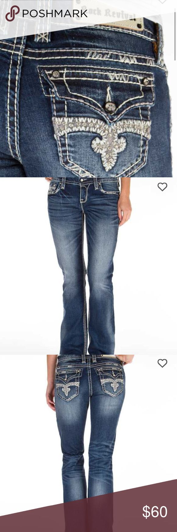 Jillian Bootcut Rock Revival Jeans In like new condition! No flaws. Make a reasonable offer 💕 Rock Revival Jeans Boot Cut