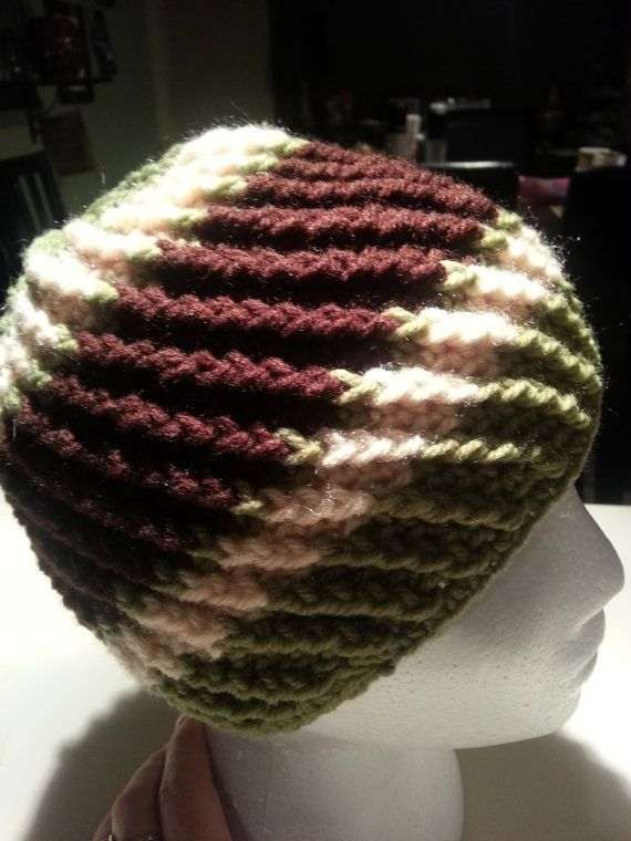 Men's Reversible Ribbed Crochet Beanie Hat by PerfectlyImperfect4U, $25.00
