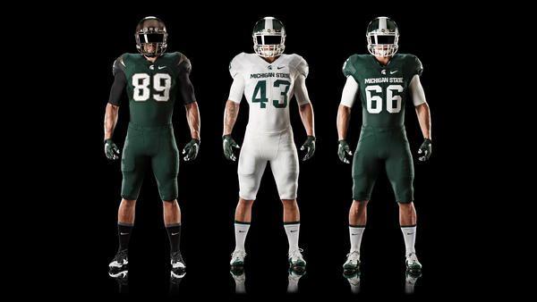 Michigan State Football Updates Nike Uniform Design
