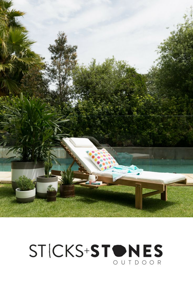Our Plantation Teak Sunlounger is perfect for any indoor/outdoor landscape. It comes in two stylish colours: Sunproof Antique White and Sunproof Ash. At Sticks + Stones Outdoor, we travel the globe to source the most stunning, affordable, practical and stylish items to help you create your own beautiful outdoor space. #outdoorfurniture #teak #homestyling #furniture