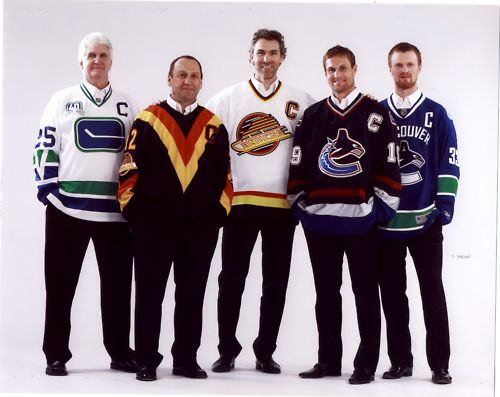 Canucks captains, past and present.