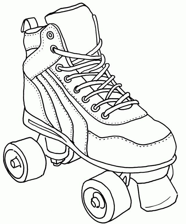 It's just a graphic of Influential Roller Skating Coloring Pages