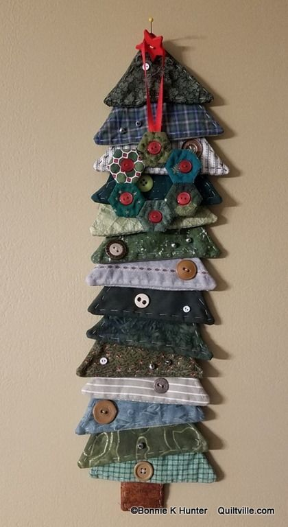 memory tree made from shirt cuffs and collars