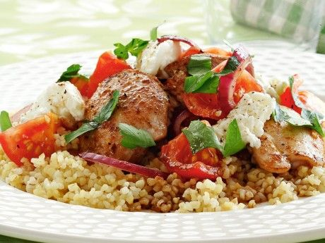 Kyckling med tomat och mozzarella