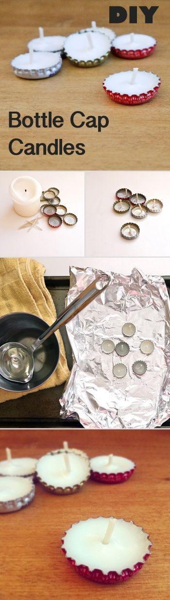 DIY Bottle Cap Candles Pictures, Photos, and Images for Facebook, Tumblr, Pinterest, and Twitter