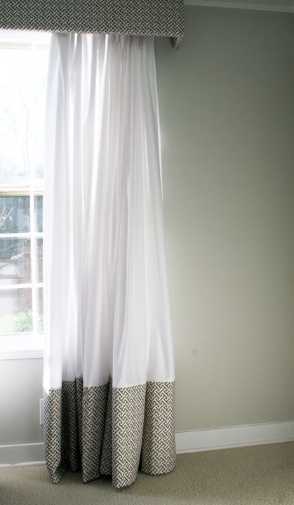 Southern Exposure   Two Tone Curtain Panel