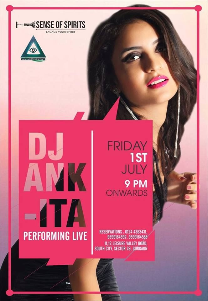 tap your feet on the dj beats of #djankita today from 9pm onwards at the Sense of Spirits.