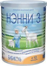 Нэнни 3 смесь молочная сухая на основе козьего молока от 1 года 400г  — 1162р.  Сухой молочный напиток для детей от 1 года на основе натурального козьего молока.      ПРОДУКТ МОМЕНТАЛЬНОГО ПРИГОТОВЛЕНИЯ  для детского питания     ДЛЯ КОГО СОЗДАНА МОЛОЧНАЯ СМЕСЬ НЭННИ:    Для здоровых детей;  Для детей с непереносимостью белков коровьего молока и риском развития пищевой аллергии.     СМЕСИ НЭННИ - 5 ФАКТОРОВ ОПТИМАЛЬНОГО ВЫБОРА:    Питательная ценность  Ценность козьего молока…