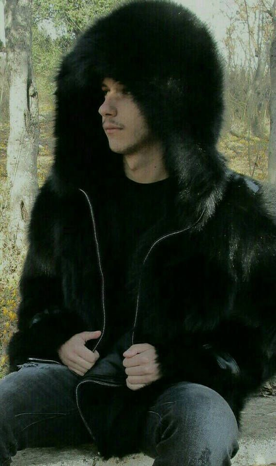 MEN'S New BLACK FOX Real Natural Fox Fur Hooded Jacket http://www.99wtf.net/trends/importance-wear-mens-shoes/