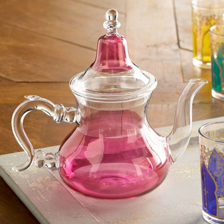 Moroccan mint tea is an early example of ancient globalization- tea from China, sugar from the tropics, local North African mint and traditionally served where Moroccan culture has been infused around the Mediterranean. Moroccan Medina Glass Teapot | National Geographic Store