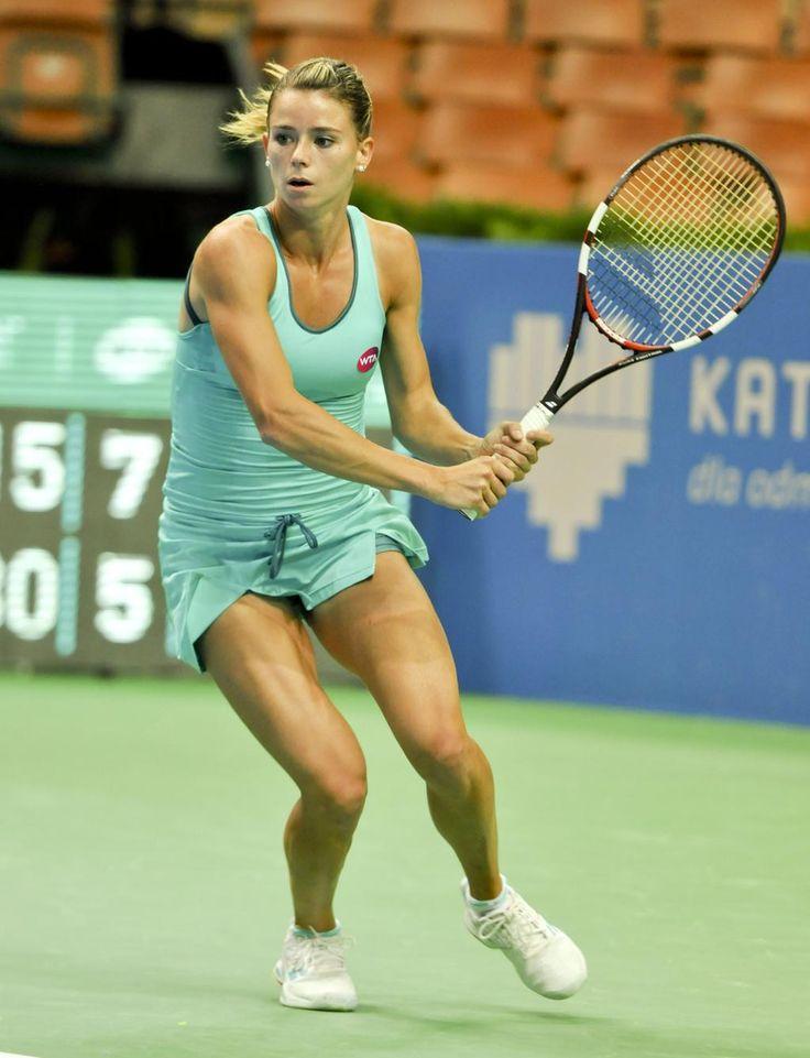 #Katowice Open 2015. In the photo the finalist Camila #Giorgi #Schmiedlova is the winner of the 2015 edition.