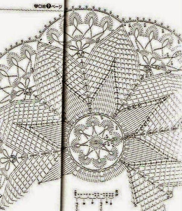 Patrones de Carpeta con motivo navideño tejida con ganchillo