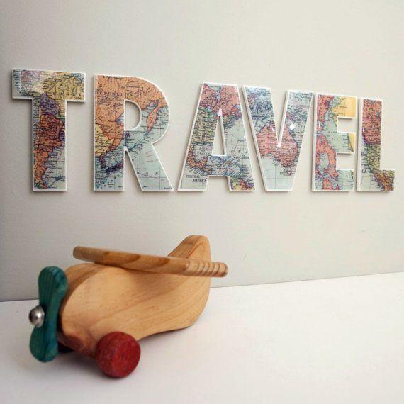 World Map Travel Sign