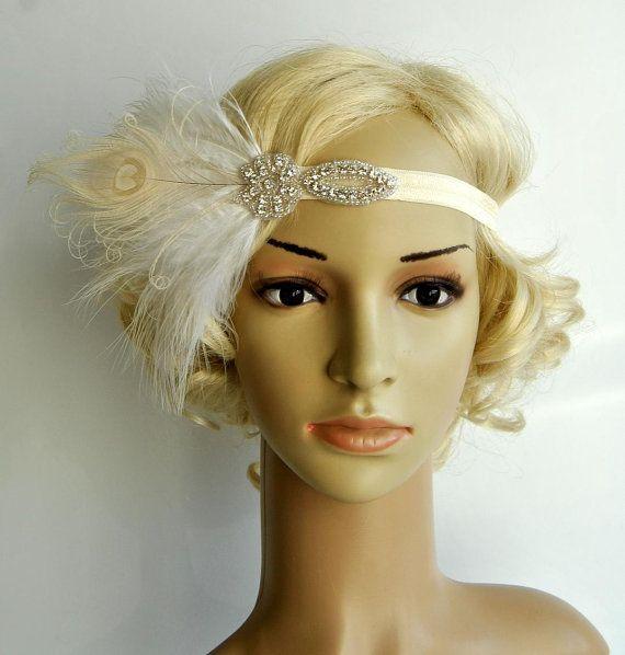 Fascia di flapper piuma strass di The Great Gatsby 1920s