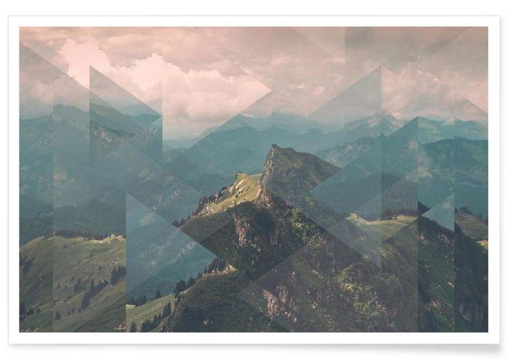 Alps Scattered als Premium Poster von Joe Mania | JUNIQE