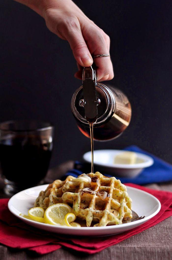 Zucchini Waffles with Lemon & Poppy Seed | 10th Kitchen