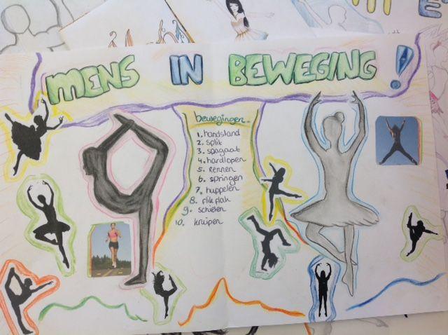 Ontwerpblad voor handvaardigheidswerkstuk 3GT. Opdracht: Mens in Beweging. Schooljaar 14-15.