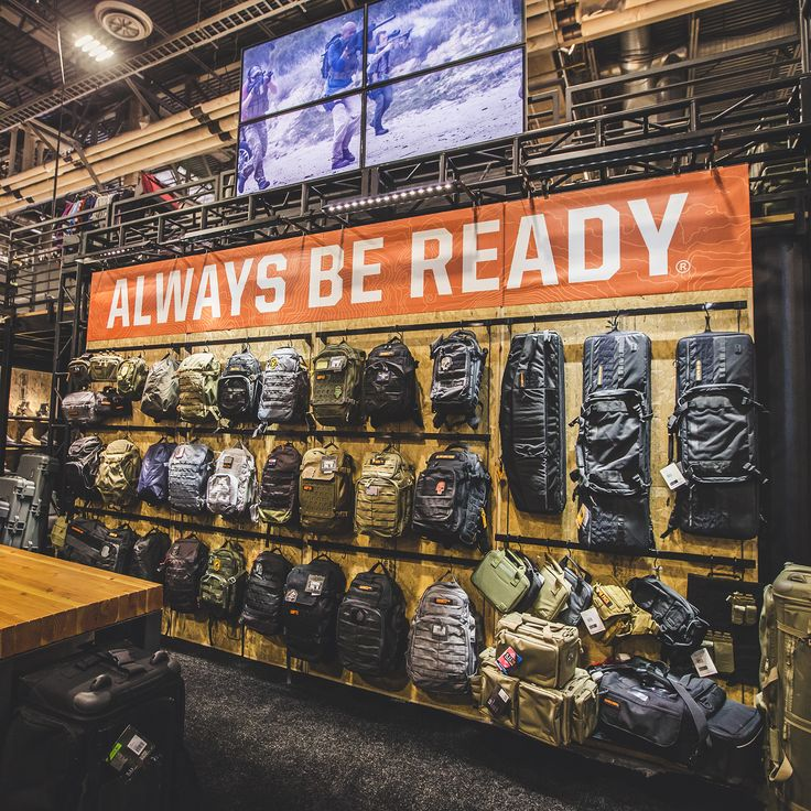 5.11 Tactical SHOT SHOW 2018 ALWAYS BE READY Bags and Packs Wall