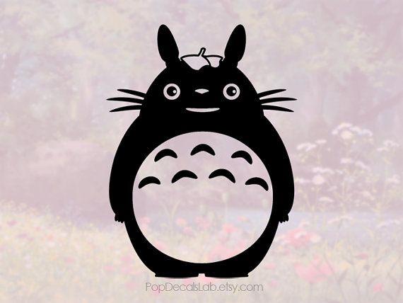 Mi etiqueta de vinilo de vecino Totoro - Tonari No Totoro - Disney - coche macbook etiqueta del ordenador portátil engomada de pared - hecha en Estados Unidos - PopDecalsLab