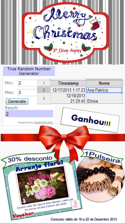 And the winner is... Read more: http://eraumavez-osonhoperfeito.blogspot.pt/2013/12/vencedor-do-4-concurso-era-uma-vez-3.html