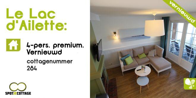 Spot je cottage | Cottage 284 4 persoons vernieuwde premium |Le Lac d'Ailette (Met video)