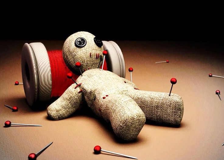Image result for cartoon voodoo doll with stick pins