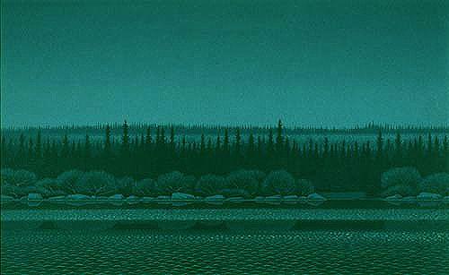 Night on the River  - Christopher Pratt