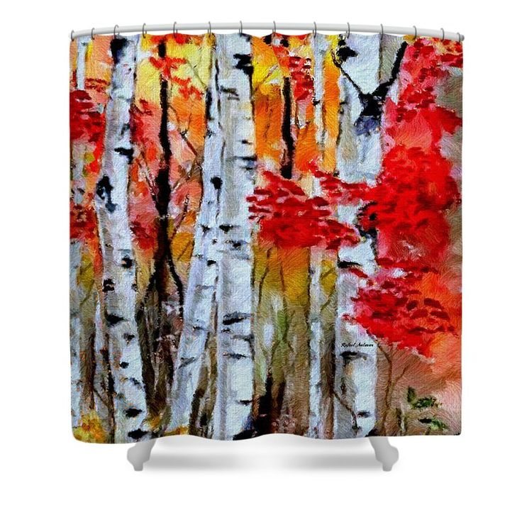 Birch Trees In Fall Shower Curtain for Sale by Rafael Salazar