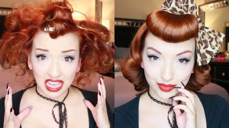 Sweet Retro Girl - Pinup Hair Tutorial