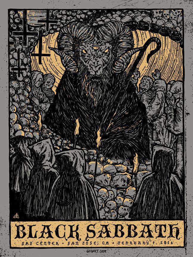INSIDE THE ROCK POSTER FRAME BLOG: Gregg Gordon Black Sabbath San Jose Poster Release