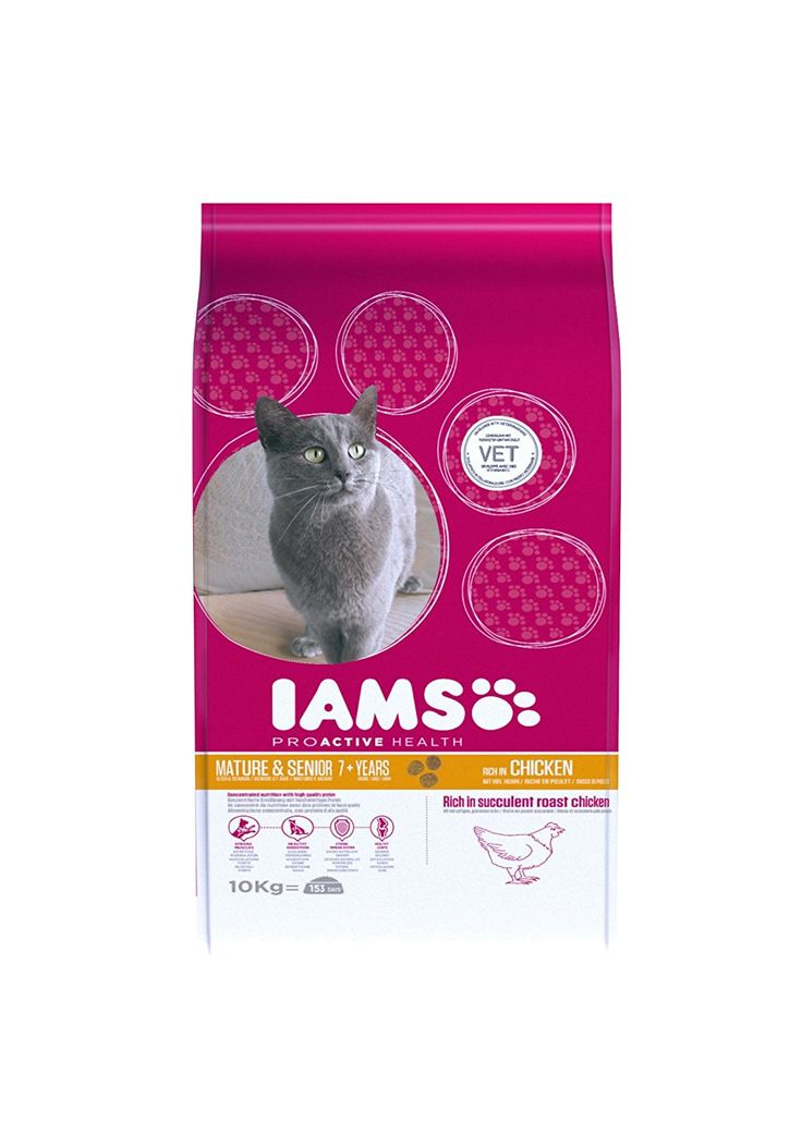 Iams Cat Food ProActive Health Mature and Senior Rich in Succulent Roast Chicken, 10 kg ** Read more at the image link. (This is an affiliate link) #CatFood