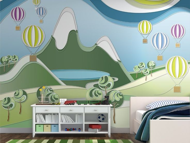 Contemporary style motif adhesive fabric kids wallpaper GIROVAGANDO by MyCollection.it design MyCollection