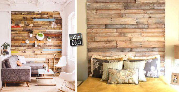Couvrir un mur en bois de palettes! Regardez le résultat… 17 idées pour vous inspirer!