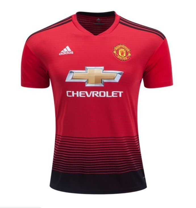 Men's Manchester United 20182019 Home soccer Jersey – red
