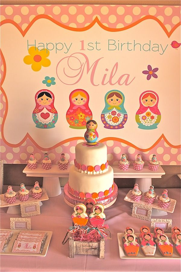 Matryoshka Doll Party Decoration Ideas. Would be an awesome birthday or wedding thing