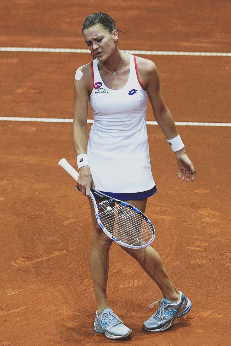 Aga Radwanska playing in Stuttgart 2015 #WTA #Radwanska #Stuttgart