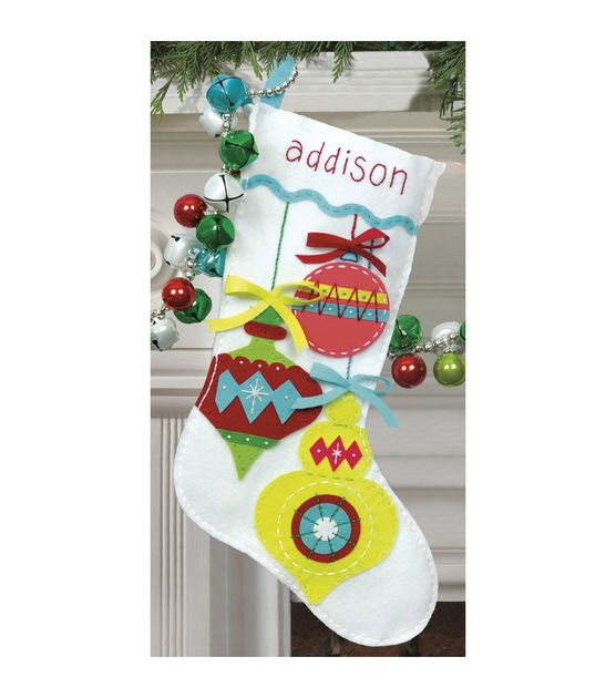 Felt Applique Christmas Stocking Kits